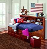 Discovery World Furniture Bookcase Daybed with 6 Drawers, Twin, Merlot