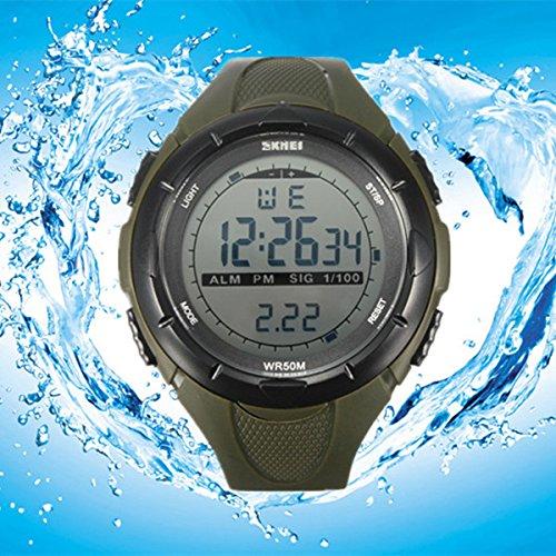 ELEGIANT MODE LCD Sports Armbanduhr - Sportuhr Herren(Wasserdicht,Wecker,Datum,Stoppuhr)