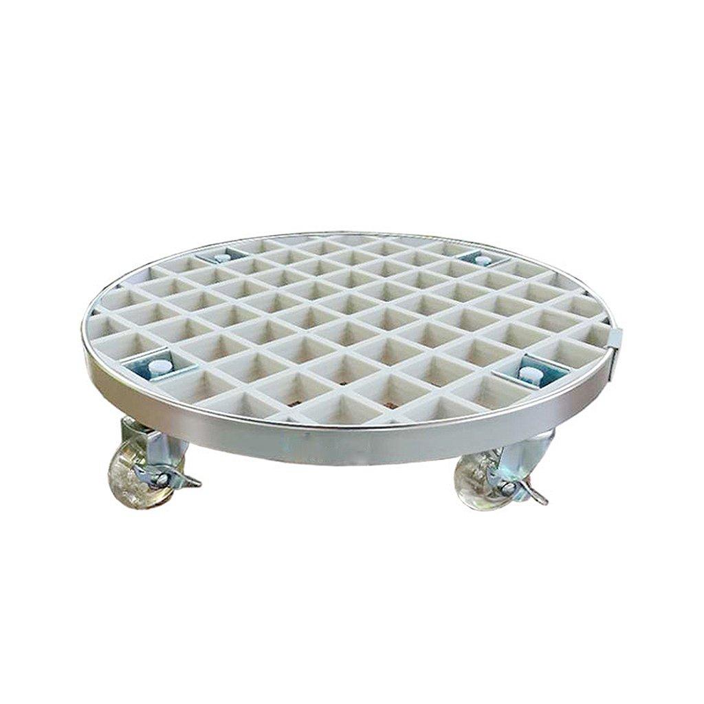 QING MEI ラウンド可動フラワースタンドフラワーポットトレイ肥厚可動トレイベース給水シャーシユニバーサルホイールローラーベルトプーリー A+ (色 : 白, サイズ さいず : 67cm) B07KJ5RS81 67cm 白 白 67cm
