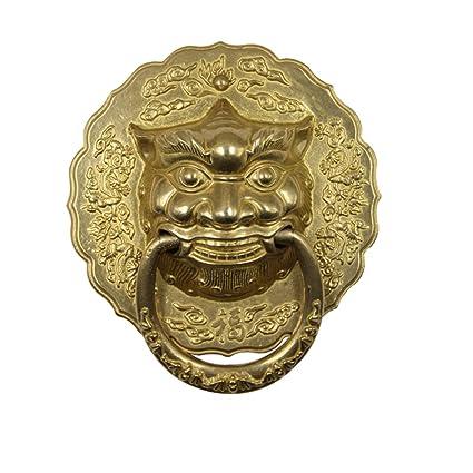 Charmant Knocker,Chinese Antique Door Knocker Brass Handle Round Door Handle Vintage  Door Handle Retro Handle