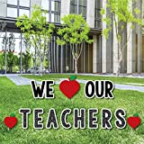Big Dot of Happiness Teacher Appreciation - Back to School Yard Sign Outdoor Lawn Decorations - Thank You Teachers Yard Signs - We Love Our Teachers