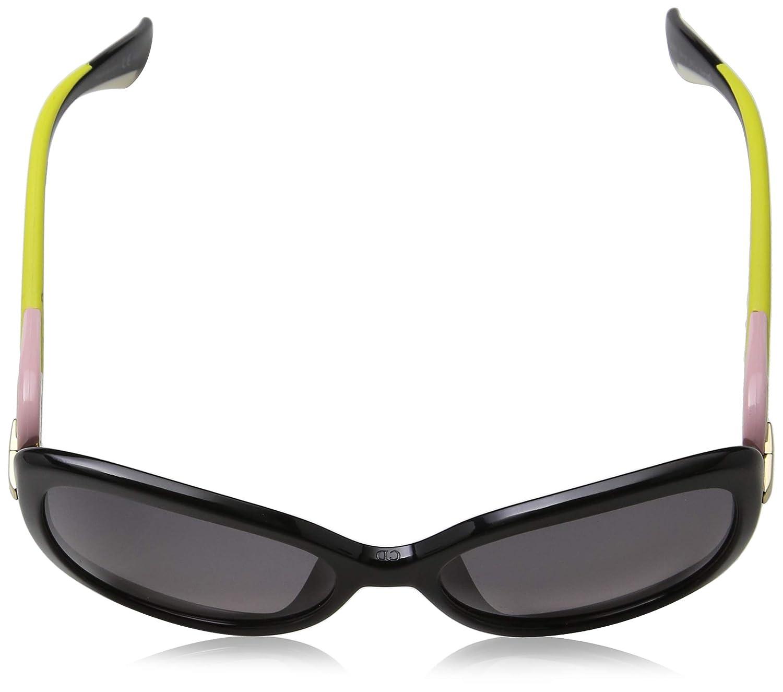 74157abd0fd8 Amazon.com  Christian Dior Sunglasses TWISTING JXGEU Black Pink Yellow  White Frame Grey Lens  Sports   Outdoors