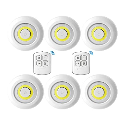 Amazon glolux ultra bright 150 lumen cob led puck lights with glolux ultra bright 150 lumen cob led puck lights with remote control under cabinet lighting tap aloadofball Gallery