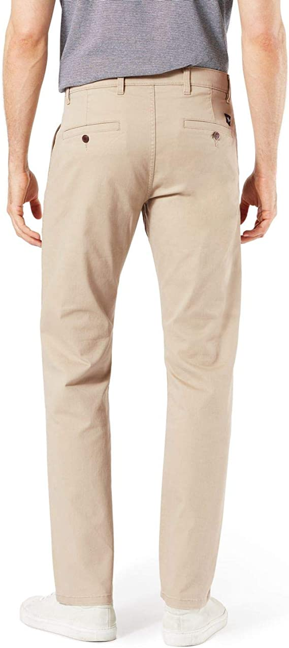 Dockers Mens Big /& Tall Classic Fit Flat Front Broken-In Washed Khaki Pants
