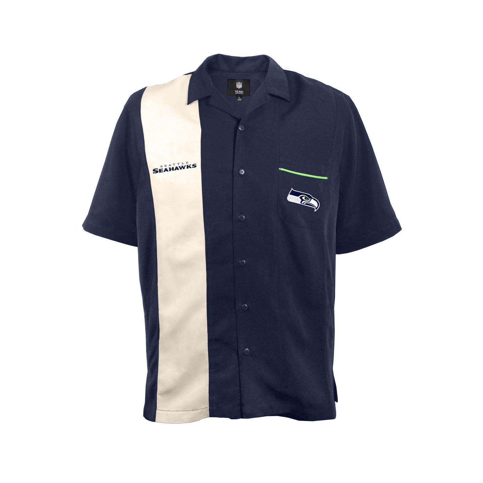 NFL Seattle Seahawks Strike Bowling Shirt, Medium by Littlearth
