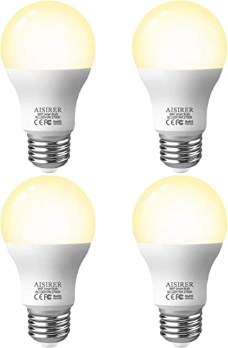 AISIRER Smart Light Bulb LED WiFi Bulbs 9 Watts 806 Lumens Compatible