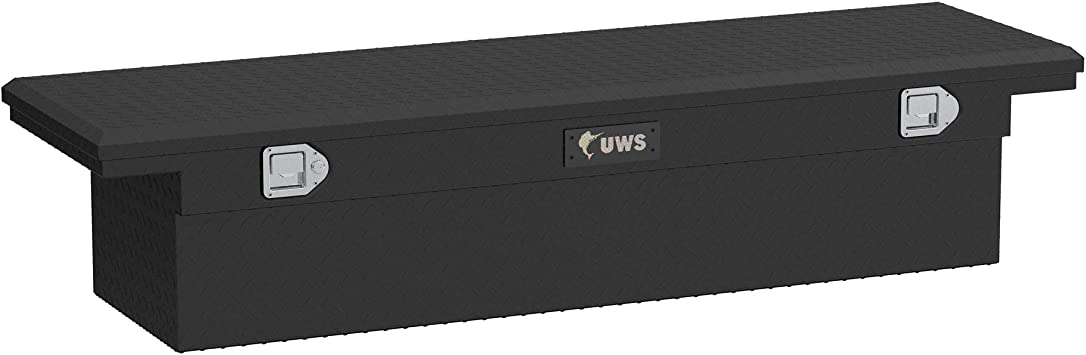 UWS TBS-63-A-LP-MB 63-Inch Matte Black Aluminum Angled Truck Tool Box with Low Profile