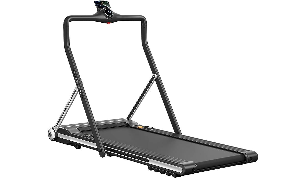 RHYTHM FUN Foldable Handrail Running Treadmill