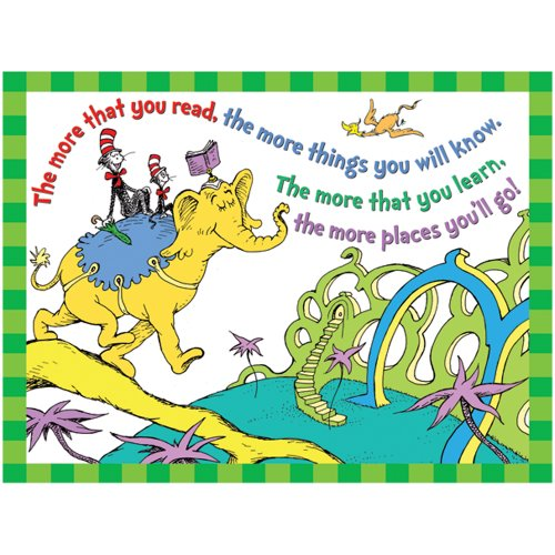 Eureka Dr. Seuss The More You Read Poster (Dr Seuss Signs)