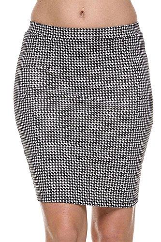 Houndstooth Mini Skirt - 2