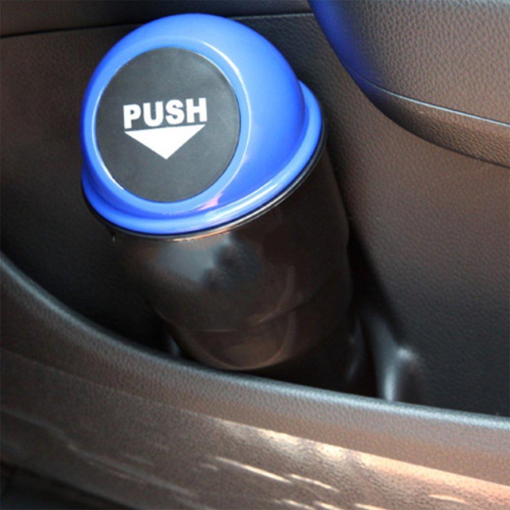 in plastica Fablcrew 20 x 6,5 x 9 cm Mini pattumiera per Auto Plastica Blu con Coperchio 20 * 6.5 * 9CM
