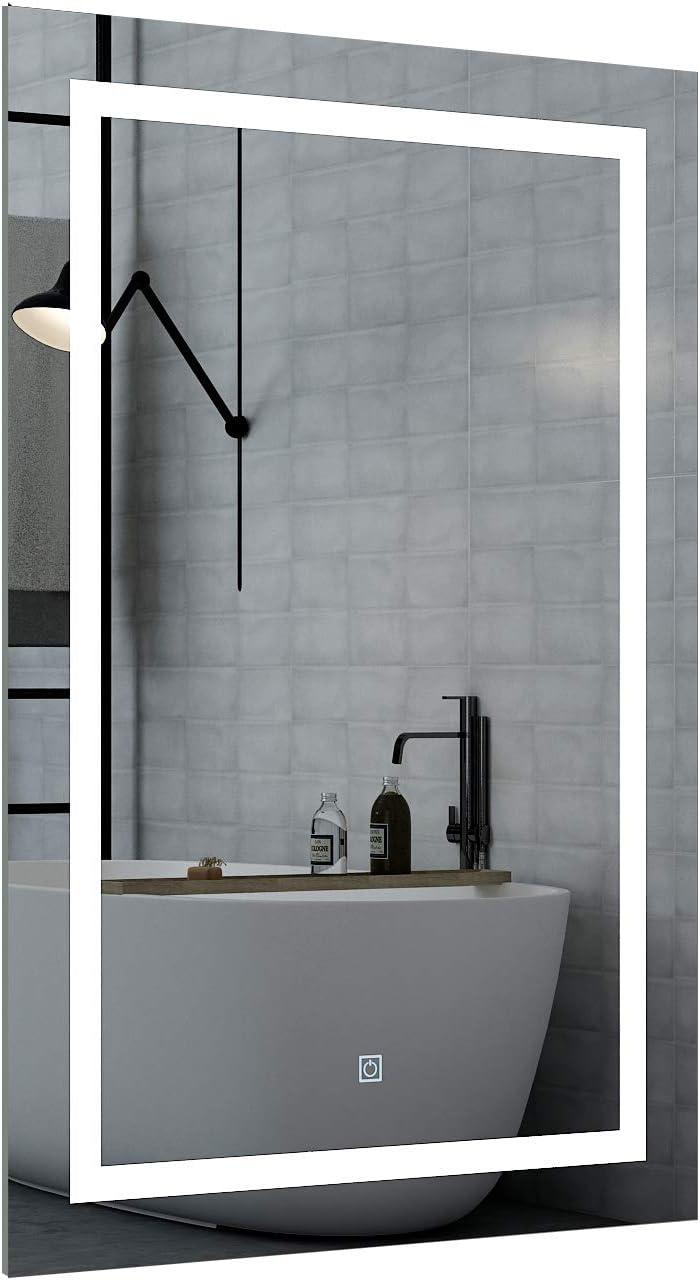 DIYHD 24 x 32 Inch Vanity Mirror With Lights