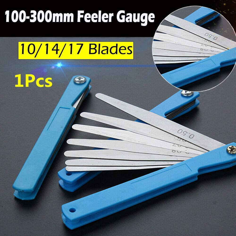 Feeler Gauge SENRISE 10 Blade Stainless Steel Marked Metric Gauge Gap Measuring Tool 100 x 10mm, 1Pcs