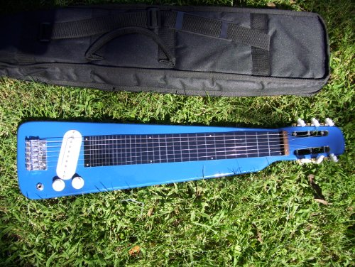 Lap Steel guitar with case, Blue by Maestro
