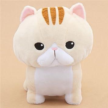 Kawaii Gran gato de peluche beis con rayas marrones Noseteru Munchkin de Japón