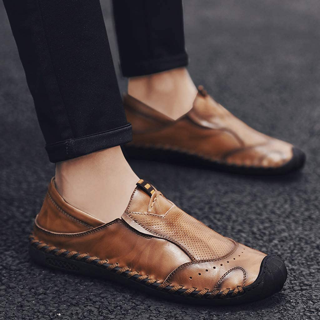 Mens Driving Casual Loafers Non-Slip Light-Weight Soft Comfortable Walking Shoes