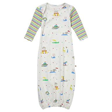 82ca63f9dc7 Piccalilly Organic Cotton Baby Bundler Nightgown Unisex Rainbow   Amazon.co.uk  Clothing