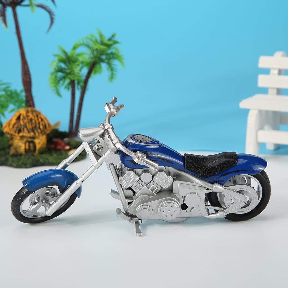 Silveroneuk Alloy Motorcycle Model Simulation Motor Bicycle Replica Kids Toys Blue