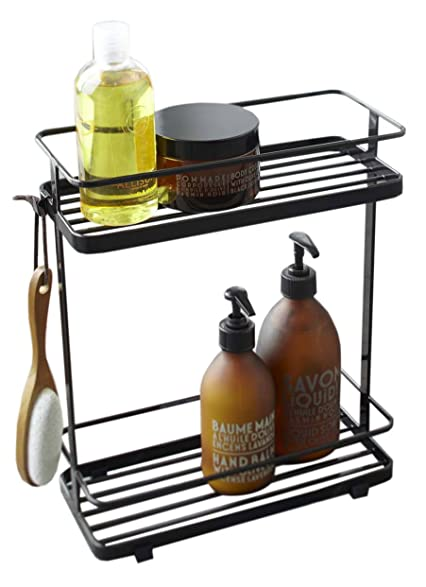 Amazon.com: Stainless Steel Bathroom Caddy Stand in Black Finish ...