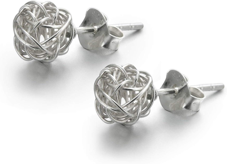 LOVE U LOUD* Pendientes de plata de primera ley diseño CLEW para Mujer con preciosa caja de Regalo.