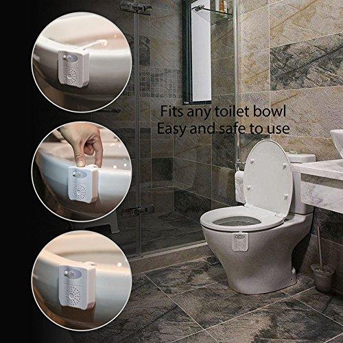 SEYEON Toilet Lights Waterproof Led Toilet Night Lights Motion Sensor Light for Toilet with Aromatherapy, 16 Colors UV Toilet Bowl Light for Kids,Bathroom,Washroom,Bedroom (2 pack)