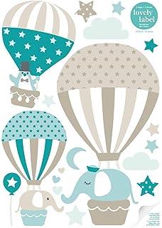 Lovely Label Hangelampe Heissluftballoons Taupe Mint Petrol