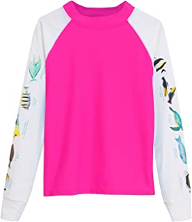 product image for Tuga Girls Snorkeling Hawaii Fish ID Rash Guard, UPF 50+ Sun Protection