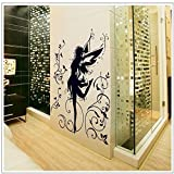 ORDERIN Christmas Gift Wall Decal Mural Dancer of Dark Elves Swing Flowers Removable Wall Stickers for Cupboard Home Wall Decor offers