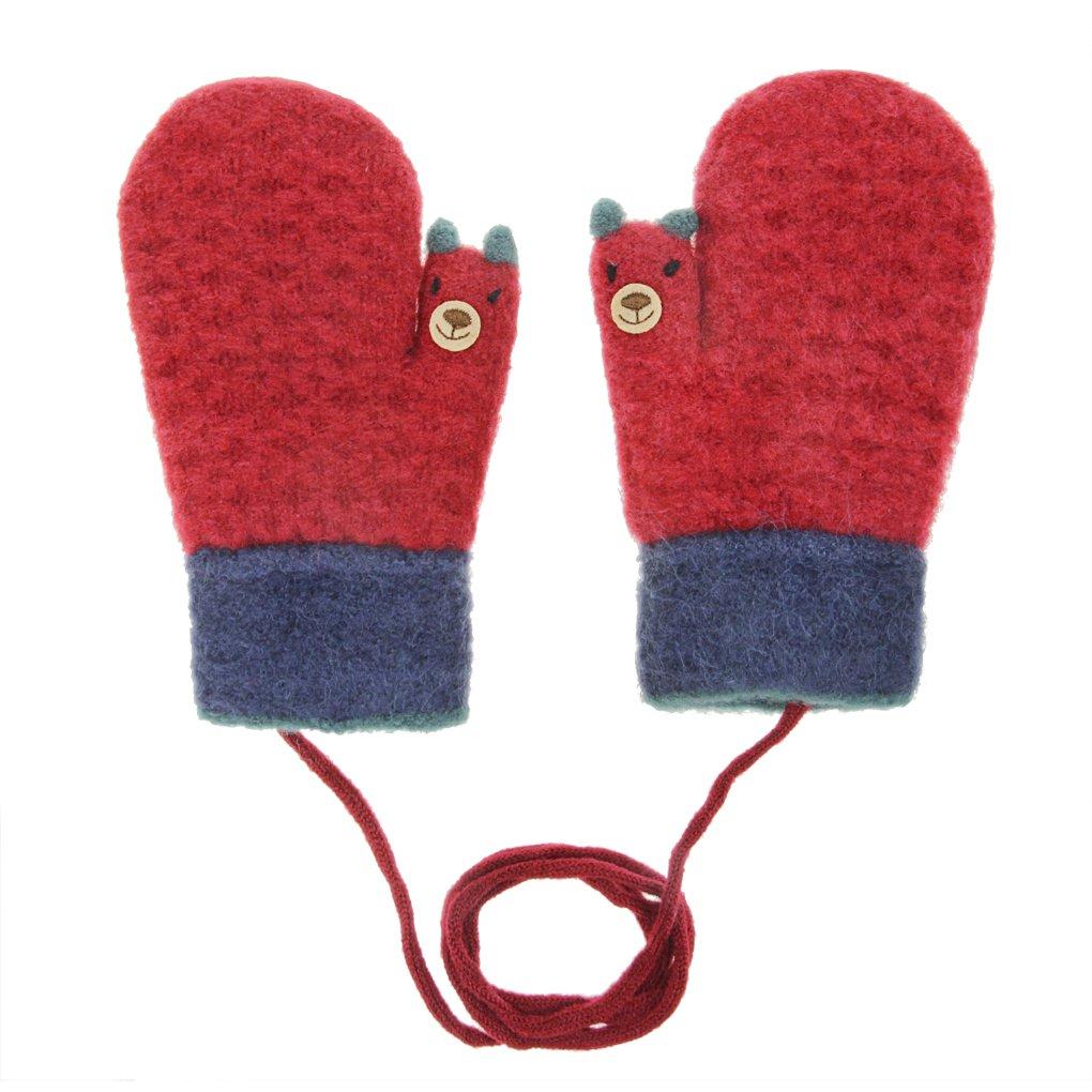 Kids Winter Warm Magic Gloves Toddler Baby Fleece Lined Snow Ski Gloves Mittens