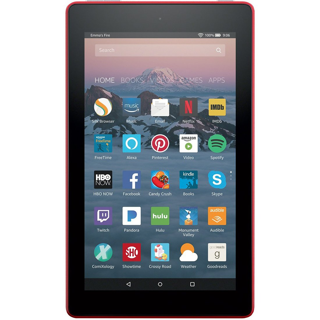 Fire 7 Tablet with Alexa, 7'' Display, 8 GB, Punch Red - with Special Offers