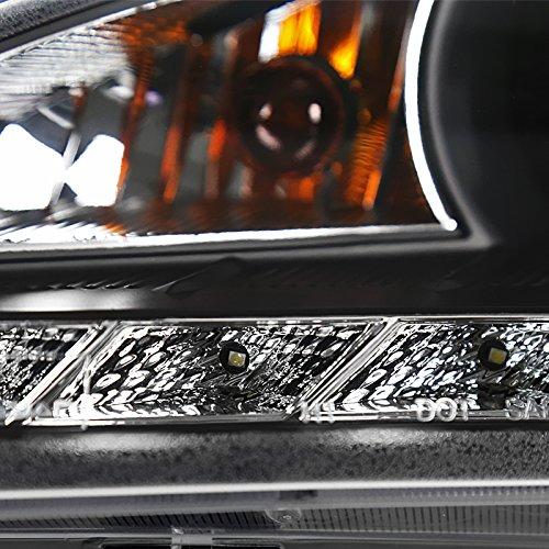 Spec-D Tuning 2LHP-GENS210JM-V2-TM Hyundai Genesis Goupe Projector Headlight Black+R8 Led Daytime Running Drl