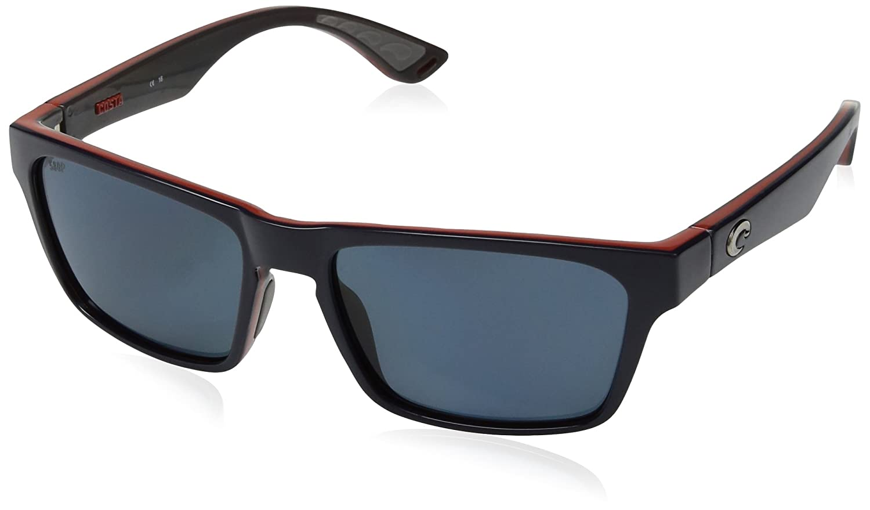 b60b0d5a91 Amazon.com  Costa Del Mar Hinano Polarized Iridium Wayfarer Sunglasses  Blackout 54.1 mm  Clothing