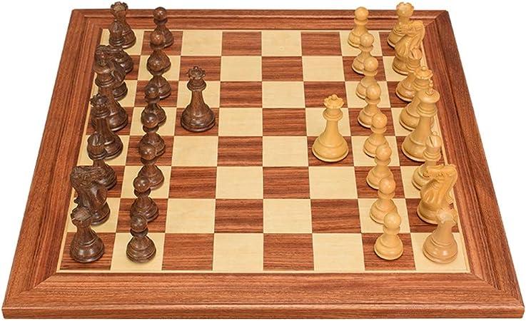LF stores Ajedrez Juego de ajedrez de Campeonato, Juego de ajedrez y Damas 2 en 1