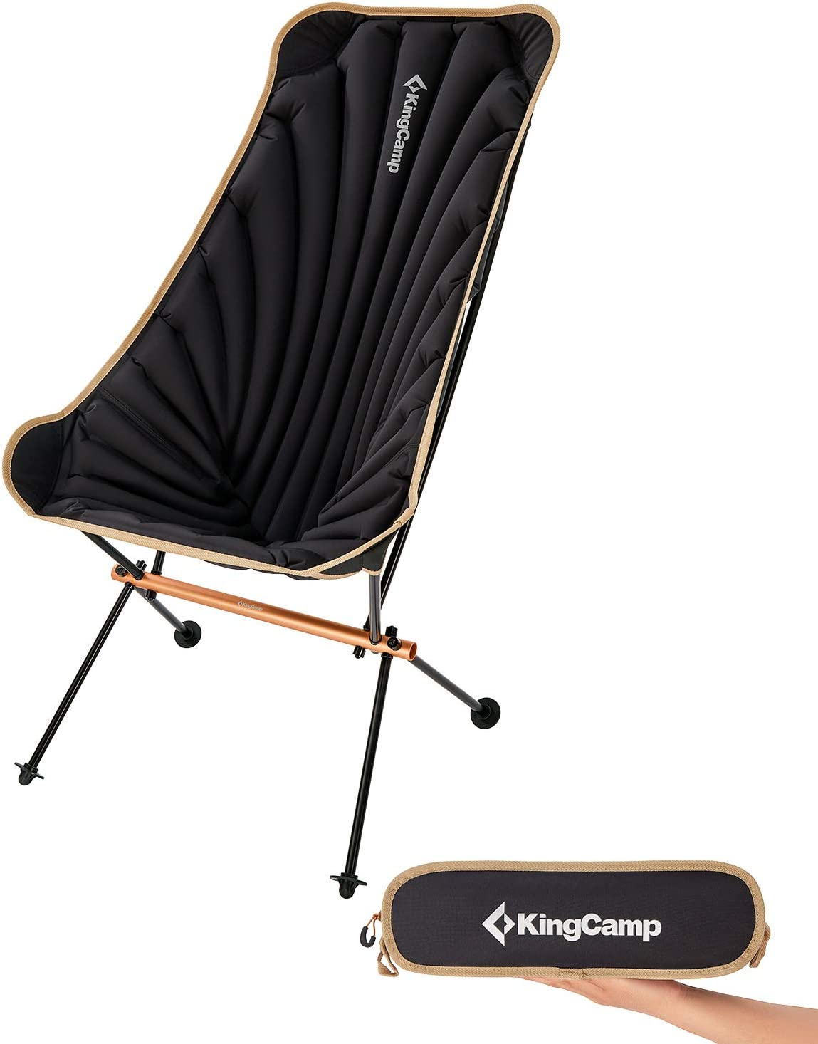KingCamp Uniquely Designed Portable,Comfortable,Inflatable Low-Back Folding Chair Support to 220lb