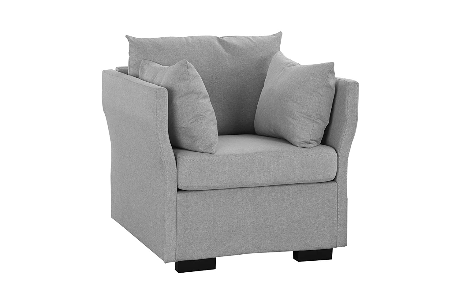 Modern Living Room Linen Fabric Armchair Image