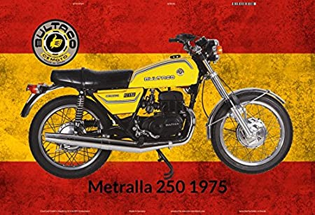 Compra ComCard Bultaco Metralla 250 1975 España Moto Cartel de ...