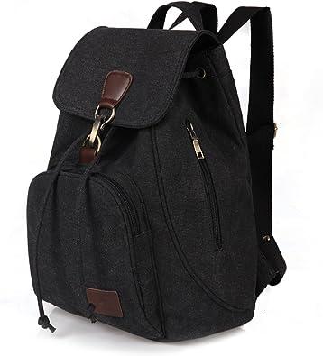 Amazon.com: Qyoubi Women's Canvas Fashion Backpacks Purse Casual Outdoor  Shopping Daypacks School Rucksack Hiking Travel Multipurpose Bag Black:  Shoes
