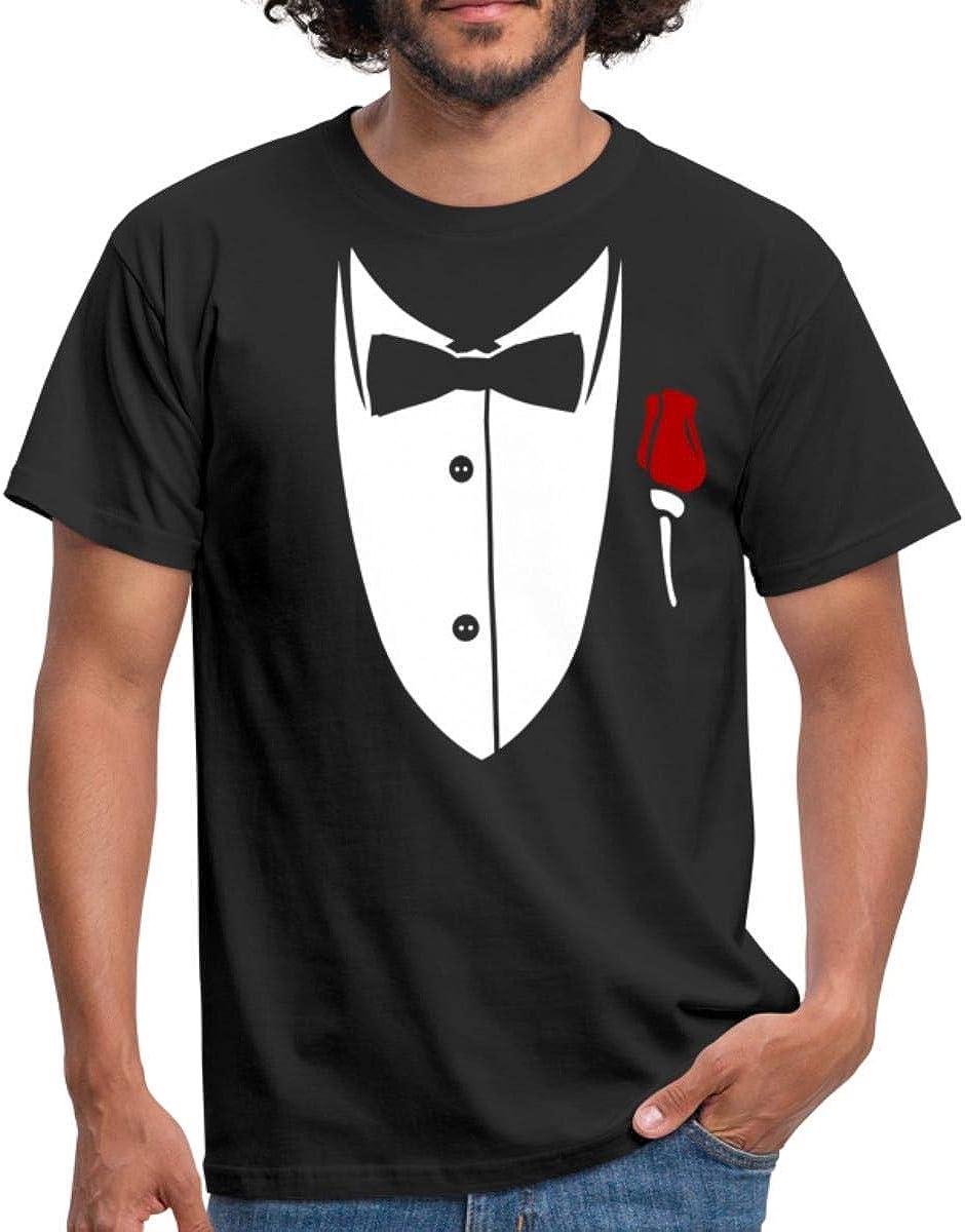 Spreadshirt® Camiseta para hombre, disfraz, esmoquin negro XX ...