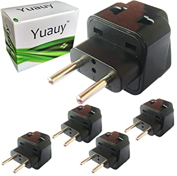 Yuauy - Adaptador de Enchufe de Pared 2 en 1 para Enchufe de Reino ...