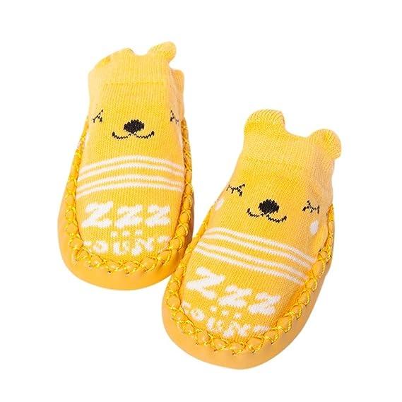 K-youth® Invierno Bebé Niñas Niños Indoor Zapatillas Piso Calcetines Patrón De Dibujos Animados