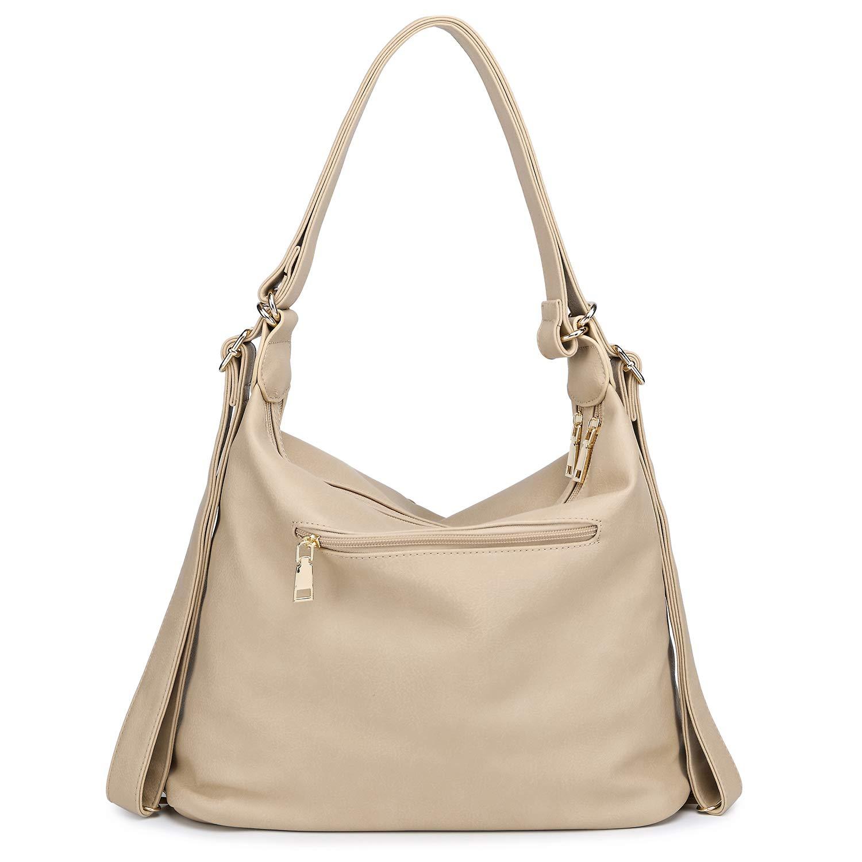 867c31fee0 Abshoo Classic Large Womens Purses Pu Leather Handbags Ladies Shoulder Bags  (Apricot)  Handbags  Amazon.com