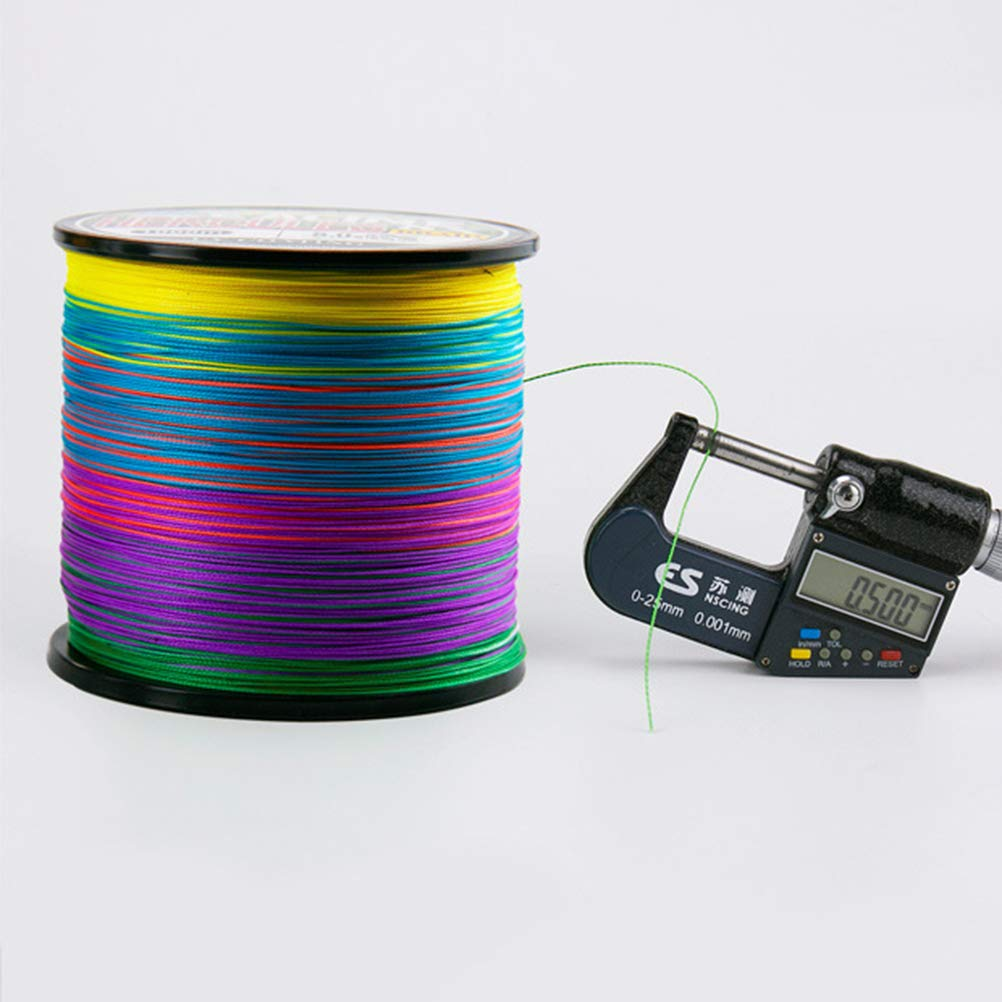 LIOOBO Braided Fishing Line Abrasion Resistance Fishing Wire Multicolor Fishing Line 500m