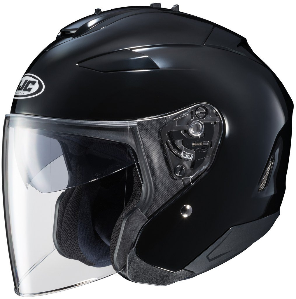 HJC Solid Adult IS-33 II Cruiser Motorcycle Helmet - Black / Large