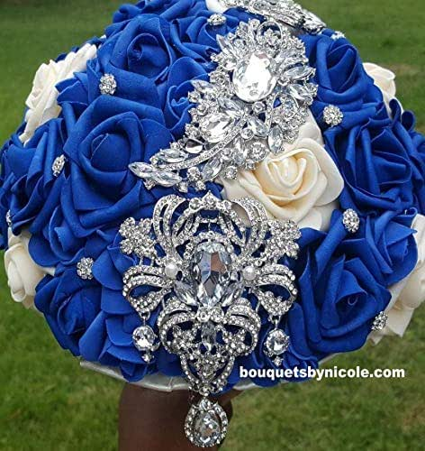 Whole Foods Wedding Bouquet: Amazon.com: Made To Order Brooch Bouquet Wedding Bridal