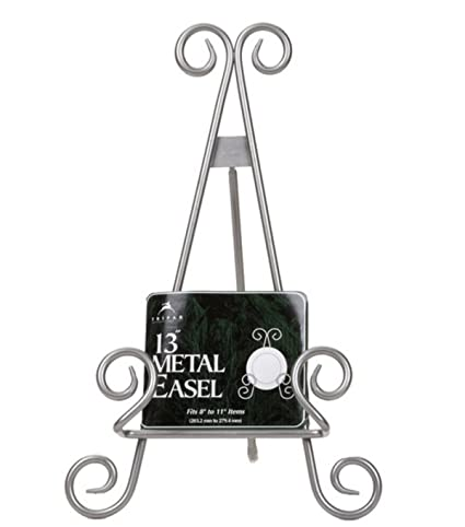 13\u0026quot; Silver Finish Stratford Metal Easel Plate Display Photo Holder Stand  sc 1 st  Amazon.com & Amazon.com: 13\