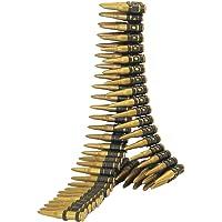 SMIFFYS Smiffy's Cartuccera, Oro 96 proiettili, 150 cm di Lunghezza per Adulti, Dorato, 25996
