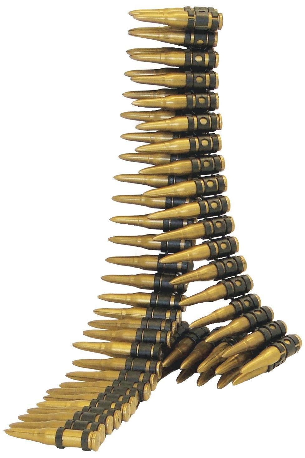 Smiffys Cinturón de balas, dorado, 96 balas, 150 cm largo