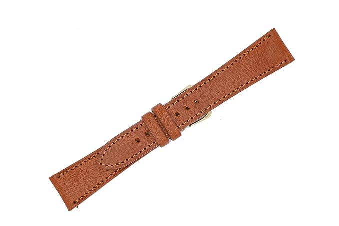 20 mm marrón Inglés brida piel sustitución correa de reloj banda fabricado en Estados Unidos WS176: Amazon.es: Relojes