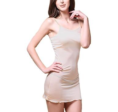 57a613da8 MESHIKAIER Women's Elegant Long Silk Slip Dress Sleep Dress Sleepwear  Nightdress Nightwear at Amazon Women's Clothing store: