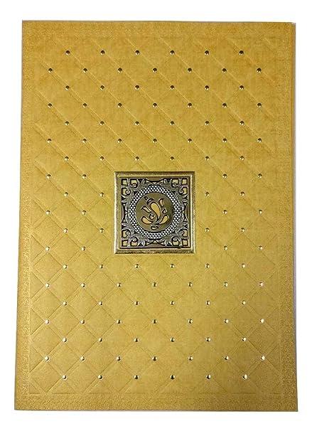 Venkateswara Invitation Card In Ganesha Design For Hindu